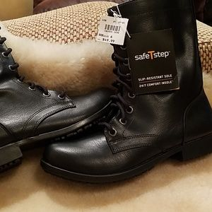 NWT black lace up boots